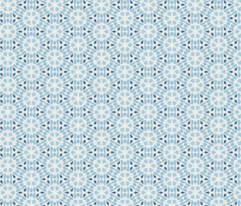 Sea Blue Faux Tie Dye fabric by ingridrest on Spoonflower - custom fabric