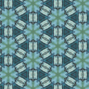 Sea Blue Hex Plaid