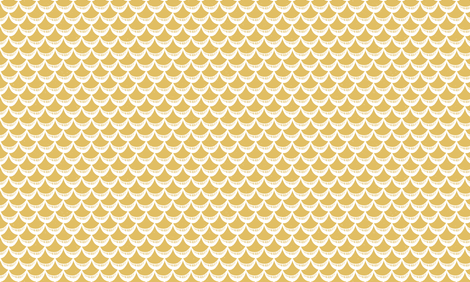 Yellow Sketchy Scales by Friztin fabric by friztin on Spoonflower - custom fabric