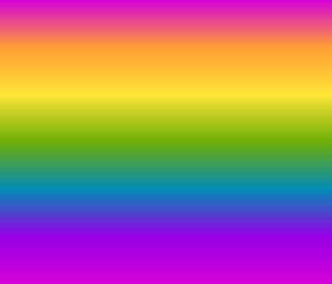 Wide Bright Gradient Rainbow Fabric Ellagee Spoonflower