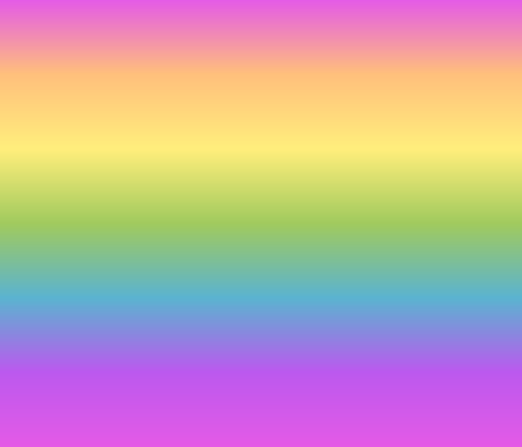 Wide Pastel Rainbow Gradient Fabric Ellagee Spoonflower