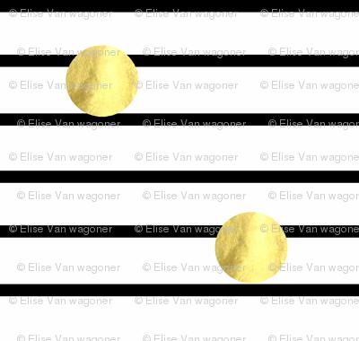 Gold Dots on Skinny Stripes
