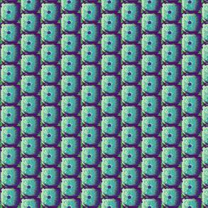 Sea Urchins in Green & Purple Stripe