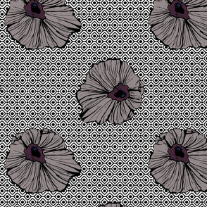 Large Floral with Geometric