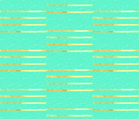 Mint with Metallic Gold Stripes fabric by eyelet_skye_designs on Spoonflower - custom fabric
