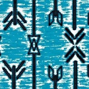 Aztec Arrows Skye Blue