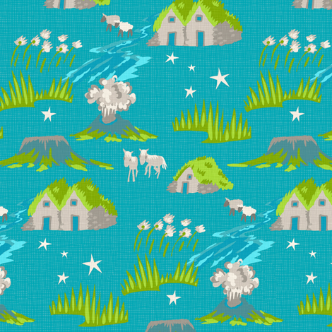 Iceland fabric by chantal_pare on Spoonflower - custom fabric