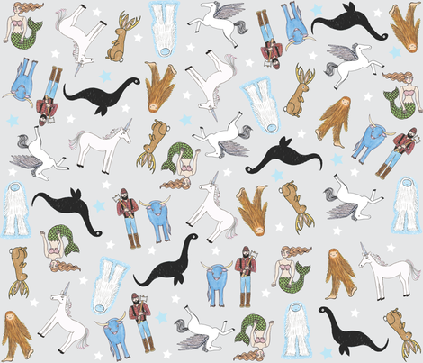 Mythical Party fabric by bishopart on Spoonflower - custom fabric