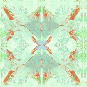 Green and Red Abstract Blooms