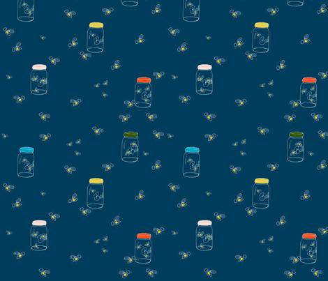 fireflies4 fabric by b__woolf on Spoonflower - custom fabric
