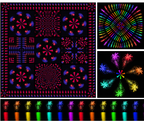 Snowcatcher Fireworks II fabric by snowcatcher on Spoonflower - custom fabric