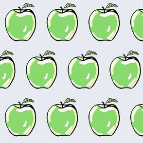 Green Apples on Cool Grey