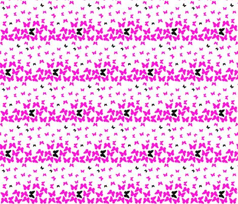 Pink Butterflies fabric by pamelachi on Spoonflower - custom fabric