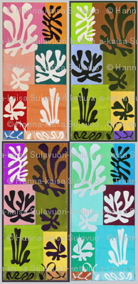 Snow Flowers Matisse 1951, altered colors