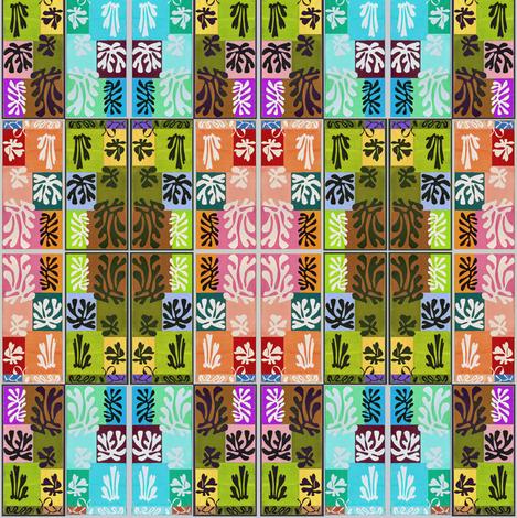 Snow Flowers Matisse 1951, altered colors fabric by vinkeli on Spoonflower - custom fabric