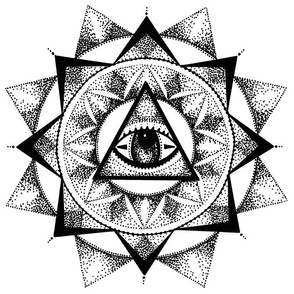 Dotwork Eye Mandala