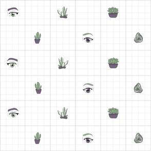Succulents Grid