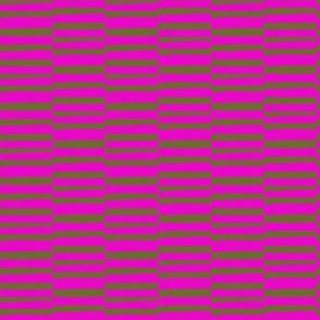 Wonky Stripes Pink and Sage