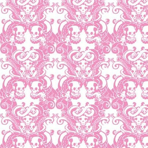 Skull & Tentacle in Formal Pink bright
