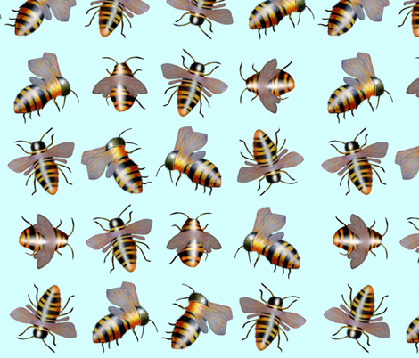 biggiebees no dots fabric by golders on Spoonflower - custom fabric