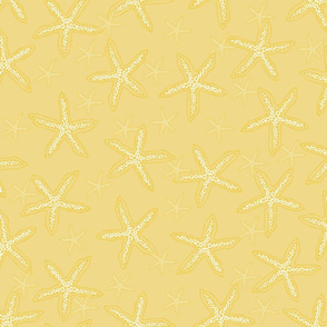 Yellow & White Starfish Pattern