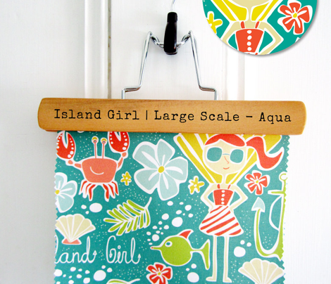 Island Girl - Nautical Summer Aqua - Large Scale