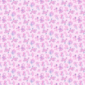 Pink Designs- Small- Pink Background- Swirly