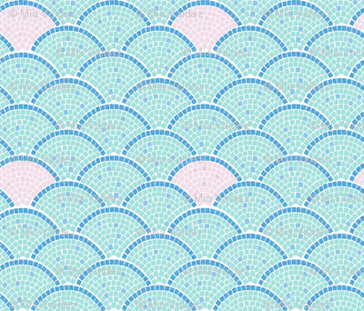Mosaic Archs: Mint and Rose