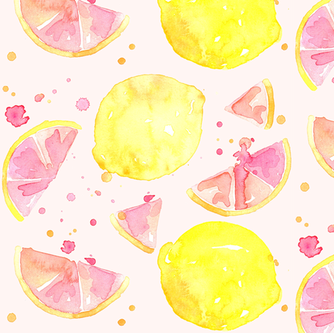 pink lemonade fabric by erinanne on Spoonflower - custom fabric
