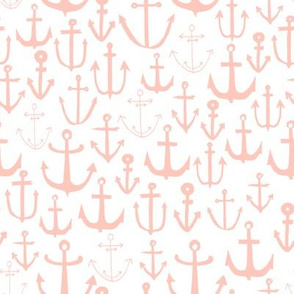 anchor // pink baby nursery fabric nautical fabric nursery baby anchors