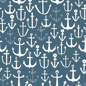 anchors // anchor fabric blue grey fabric anchor nautical design anchors fabric baby nursery blue nautical anchors