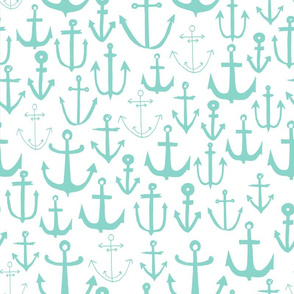 anchor // anchors mint anchor nautical fabric baby nursery fabric nautical nursery cute mint anchors