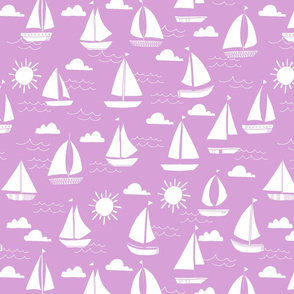 Sailboats - Wisteria by Andrea Lauren