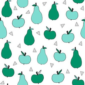 apple and pear // mint and green fruits orchard fall autumn fruits