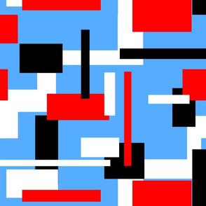 Black White Red Rectangles LG