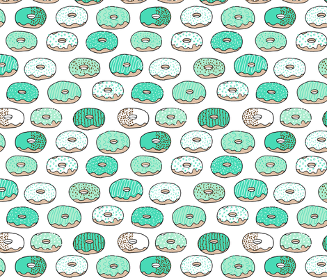 donuts // sweet mint pastel bakery sweets donuts donut shop coffee cute mint  green donut