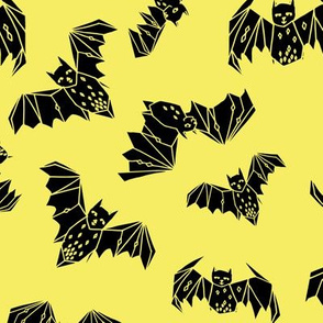 bats // halloween bright yellow geo bat andrea lauren