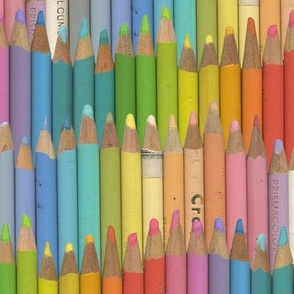 jumbo colored pencils - pastel