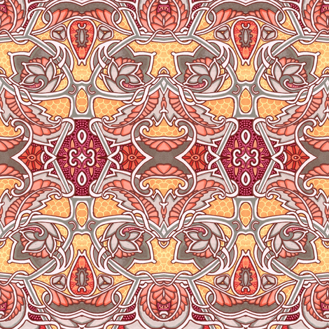 Nouveau With a Twist fabric by edsel2084 on Spoonflower - custom fabric