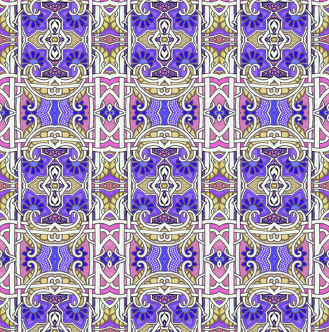Pink and Purple Gavotte fabric by edsel2084 on Spoonflower - custom fabric