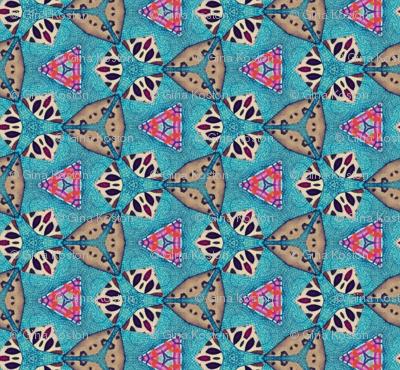 Abstract in Aqua