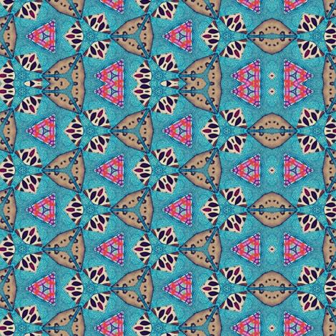 Abstract in Aqua fabric by ginascustomcreations on Spoonflower - custom fabric
