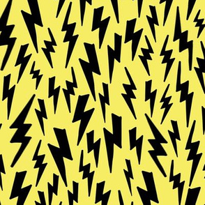 lightning bolt // yellow lightning bolt fabric 80s 90s fabric design andrea lauren fabric lightning bolts