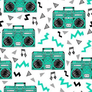 80s boombox // 80s print, 80s trend, 80s fabric, music fabric boombox boombox fabric