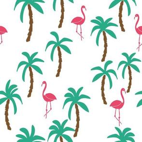 palm tree // trees flamingo flamingos tropical summer cute palm trees