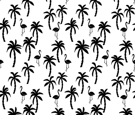 Palm Tree Print palm tree // black and...