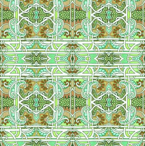 Green Box Twister fabric by edsel2084 on Spoonflower - custom fabric