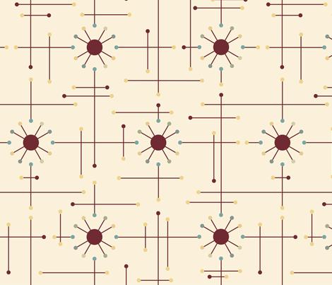 Atomic_Mod_Burgundy_Cream fabric by bad_wolf_clothier on Spoonflower - custom fabric