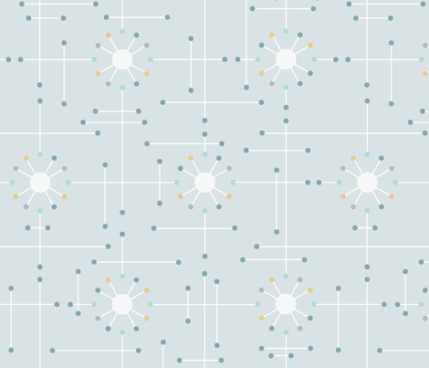 Atomic_Mod_Grey_White fabric by bad_wolf_clothier on Spoonflower - custom fabric