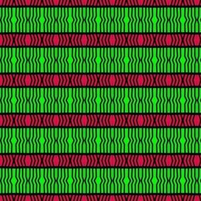 Holiday Ribbons Red Green